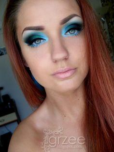 Dark cloud blue makeup by grzee Lots Of Makeup, Makeup Tips, Beauty Makeup, Hair Beauty, Makeup Ideas, Makeup Tutorials, Makeup Inspo, Rave Makeup, Kiss Makeup