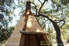 Cedar Play Teepee: 12 step by step instructions complete with photo's.Would make a great fort,playhouse,doghouse,club house etc.Sure to keep your child or children busy.