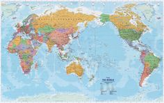 World Map Centered On Pacific Map City Map with Pacific Ocean In Center 2018 World Map Image Pacific Framed Maps, Wall Maps, Monuments, Pacific Map, Pacific Ocean, World Political Map, World Map With Countries, Map Shop, Fear Of The Dark