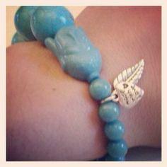 Vandaag om mijn pols, een van onze favorieten, Buddha Blessings Blue Marble: http://www.pippelot.nl/product/armband-buddha-blessings-blue-marble/