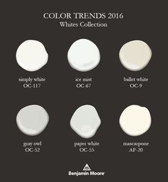 Postcards from the Ridge: Color Trends & 2016 Color of the Year ~ Simply White Source by mochamuffingirl 2016 White Paint Colors, Neutral Paint, Interior Paint Colors, Grey Paint, White Paints, Wall Colors, House Colors, Interior Design, Interior Ideas