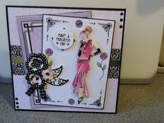 Made with mixture of Craftwork cards paper & stamps and Hunkydory little book of Deco