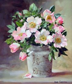 """Wild Roses in a Confectioner's Jar"" by Anne Cotterill ...."
