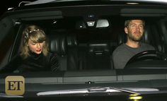 EXCLUSIVE: Taylor Swift Looks Gorgeous in Leggy Black Dress on Date Night With Calvin Harris