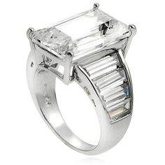 Shop for Journee Collection Sterling Silver Cubic Zirconia Celebrity-inspired Bridal-style Ring. Get free delivery at Overstock.com - Your Online Jewelry Shop! Get 5�0in rewards with Club O!