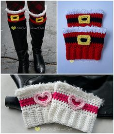 Holiday Cheer Boot Cuffs Offset that ugly sweater with an adorable pair of Christmas Cheer Boot Cuffs or spread the love with a pair of Valentine Cheer Boot Cuffs! Also be on the lookout for other holiday options being added to the pattern! Crochet Boots, Crochet Clothes, Crochet Headbands, Knit Headband, Baby Headbands, Christmas Crochet Patterns, Holiday Crochet, Crochet Boot Cuff Pattern, Boot Toppers