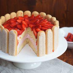 Wunderkuchen Grundrezept: Erdbeer-Joghurt Torte,