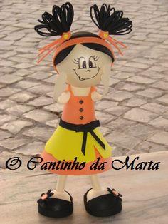 O Cantinho da Marta: Boneca E.V.A. 3 D