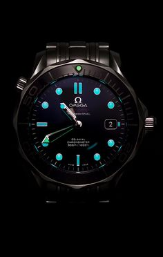 Omega Black Ceramic Seamaster Pro - the watch shop, watches for sale men, gold mens watch cheap *ad Dream Watches, Men's Watches, Luxury Watches, Cool Watches, Fashion Watches, Watches For Men, Bracelet Cuir, Omega Seamaster, Beautiful Watches