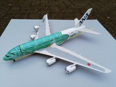 Airbus A380 KAI (1:144 Revell) Kai, Airbus A380, Scale Models, Fighter Jets, Aircraft, Diecast, Landing Gear, Scale Model, Airplanes