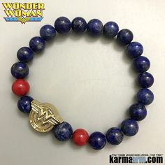 For as long as there's been a Wonder Woman, she's had her magic bracelets.........  Wonder Woman's bracelets have been a source of strength and weakness, given her power and kept her power in check……….      Wonder Woman Bracelets. Comic-Con CosPlay Avenger. DC Comic Jewelry. Black Onyx Pave.Lapis.