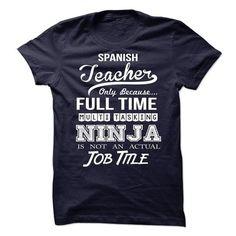 Spanish Teacher T Shirts, Hoodies. Get it now ==► https://www.sunfrog.com/No-Category/Spanish-Teacher-64281027-Guys.html?41382