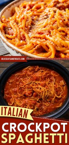 In search of dinner ideas for busy nights? Learn how to make spaghetti in the crock pot! Your family will love this easy meal with Italian sausage and a creamy sauce. Pin this slow cooker recipe for later! Best Crockpot Recipes, Slow Cooker Recipes, Great Recipes, Yummy Recipes, Italian Sausage Spaghetti, How To Make Spaghetti, Spaghetti Recipes, Creamy Sauce, Family Meals
