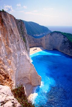 Shipwreck Bay, Zakynthos, Greece. This has to be one of the most stunning water views I have seen. Let's go travelling!