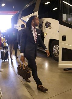 Arizona Cardinals wide receiver Larry Fitzgerald arrives to the game in style.