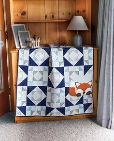 "Little Fox Quilt Kit Finished Size: 41"" x 51"" (Throw)"