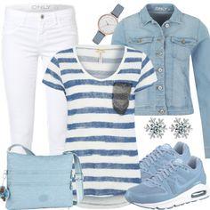 Freizeit Outfits: Babyblau bei FrauenOutfits.de