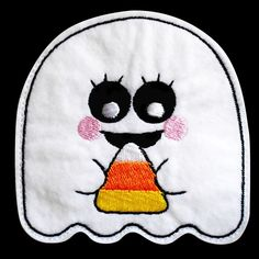 ghostie5 - Sew in the Hoop Treat Bag Machine Embroidery Design
