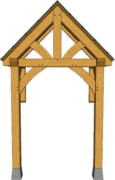 2 POST PORCHES — TIMBER FRAME PORCHES Front Door Awning, Porch Awning, House With Porch, House Front, Porch Timber, Carport Designs, Back Porches, Gazebo Pergola, Canopy Outdoor