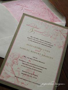 PEONY Wedding Invitation SAMPLE SET by PaperblissDesigns on Etsy, $5.00