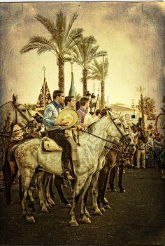 Peregrinos de la romeria de la Virgen del Rocio  Sevilla  Spain