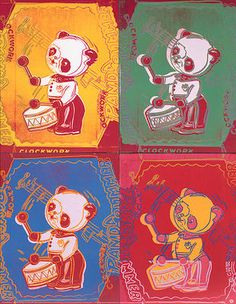 Andy Warhol-Kinderspielzeug Panda