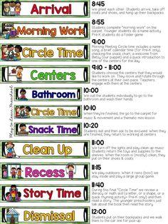 Sample Half Day Preschool Schedule