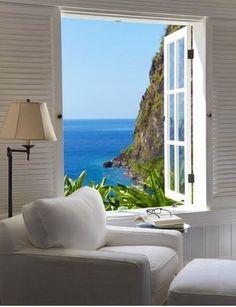 New House Beach View Coastal Cottage Ideas Coastal Style, Coastal Living, Coastal Cottage, Beautiful Homes, Beautiful Places, Beautiful Beach, Decoration Bedroom, Room Decor, Window View