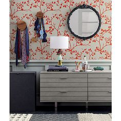 Self-adhesive wallpaper @ CB2.  Easy to remove when you're ready to update style. // cool idea for accent wall