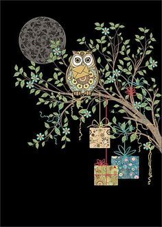 Owl Gifts by Jane Crowther for Bug Art greeting cards.