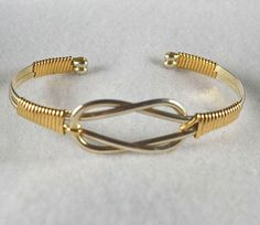 "Bracelet TUTORIAL Wire wrapped Cuff pdf ""Knotted Cuff"" - Learn to make this bracelet. Intermediate"