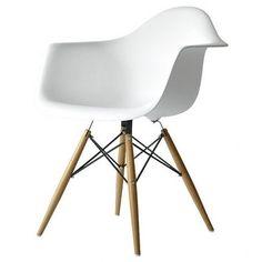 Warren Dining Arm Chair White