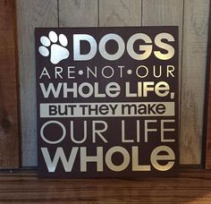 Dog sign sign with dog quote gift for vet by PaintedTreasuresbyme