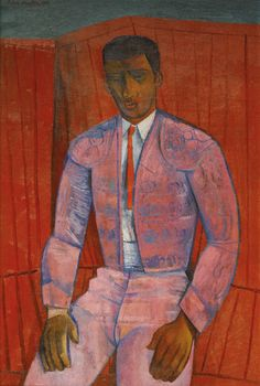John Minton (English, The Matador, Oil on canvas, 30 x 20 in. New Artists, Famous Artists, John Minton, But Is It Art, Queer Art, Figure Painting, Black Art, Art History, Modern Art