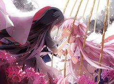 Homura and Madoka- Madoka Magica