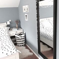 Ladybird dots all over the grown-up bed. Looks lovely! By @lovescandinavian