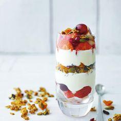 Granola breakfast sundae, a delicious recipe from the new M&S app.