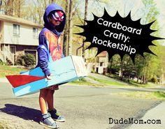 how to make a cardboard rocket