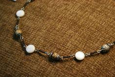 Κολιε απο ημιπολιτιμους λιθους δεμενοι με αλπακα- Necklace of semi pre – Handmade Greek Jewellery