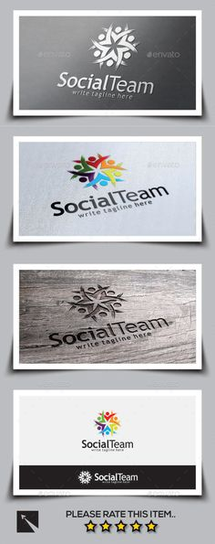 Social Team Logo Template — Vector EPS #gym #sport • Available here → https://graphicriver.net/item/social-team-logo-template/9694850?ref=pxcr