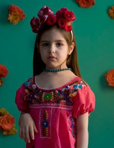 Dressed in her Mexican dress