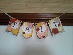 Fall Banner Banner Builder Kit, Autumn Accents Bigz Die, Sweater Weather DSP
