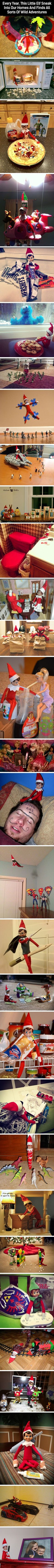 I thought the whole elf on a shelf thing was strange but I can see how this would be awesome through the eyes of a child!