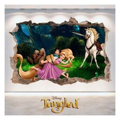 "Buscas vinilos Disney ® con diseños de Rapunzel - Tangled ?. En Vinilos Casa ® te proponemos este espectacular ""Vinilos Rapunzel Disney ® Enredados 3D"", con el que podrás decorar paredes, decorar dormitorios. Rapunzel Disney, 3d, Frame, Painting, Decorate Apartment, Frames, Home, Decorating Bedrooms, Decorate Walls"