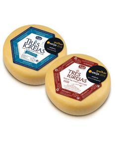 Tres Iglesias - PORTUGAL Queso curado mezcla de leche de vaca, cabra y oveja pasteurizada, con aroma característico y sabor genuino de ser una cura de 2 meses.