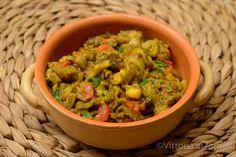 Curry di melanzane o Baingan Bharta, melanzane arrostite e poi insaporite con spezie e aromi una tradizionale e facile ricetta indiana che conquista.
