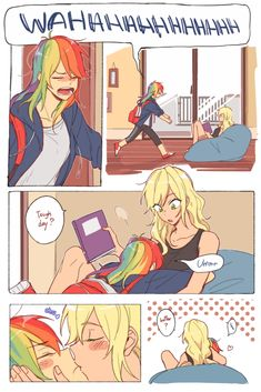 My Little Pony Characters, My Little Pony Comic, My Little Pony Drawing, My Little Pony Pictures, Manga Yuri, Yuri Anime, Anime Girlxgirl, Anime Kiss, My Little Pony Fanfiction