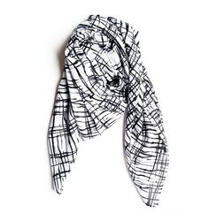 For cold night this summer... #annefontaine #accessories #scarf #black #white #french #fashion #designer www.annefontaine.com