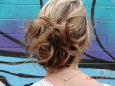 Updo with loose curls.  Beautiful! #updo #hair #updosecret #hairstyle #casualupdo #messyupdo #sophisticated #love #beautiful #beautifulhair #gorgeous #gorgeroushair #wedding #bride #everyday #lifestyle #glam