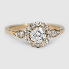 18K Yellow Gold Camillia Diamond Ring (1/4 ct. tw.)